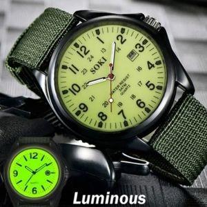 Soki luminous glow in dark watch nip